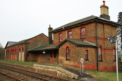 Bealings station in Suffolk after closure
